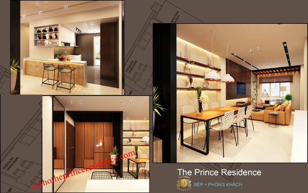 Cho thue căn ho The Prince 3 PN -bep b