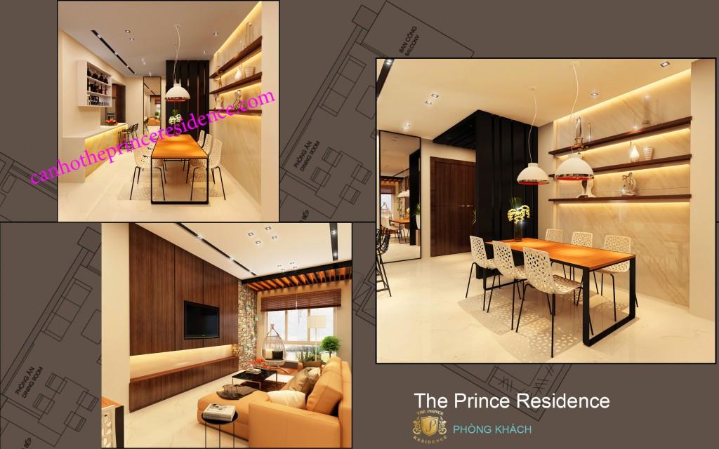 Cho thue căn ho The Prince 3 PN -phong an b