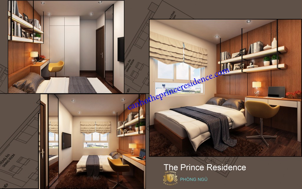 Cho thue căn ho The Prince 3 PN -phong nho b