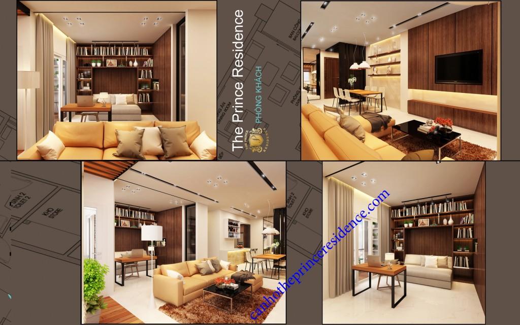 Cho thuê căn hộ The Prince 3 Pn